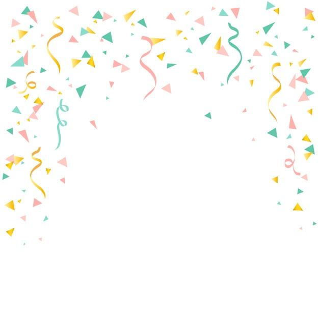 Confetti Background Png