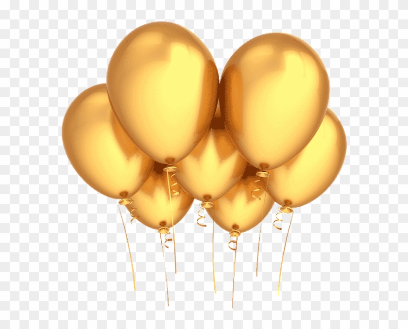 Gold Balloons Png