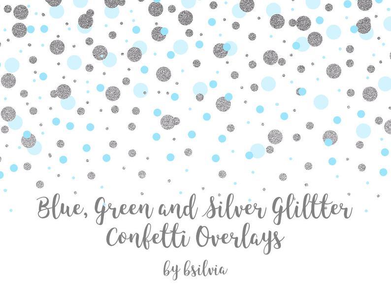 Silver Confetti Png