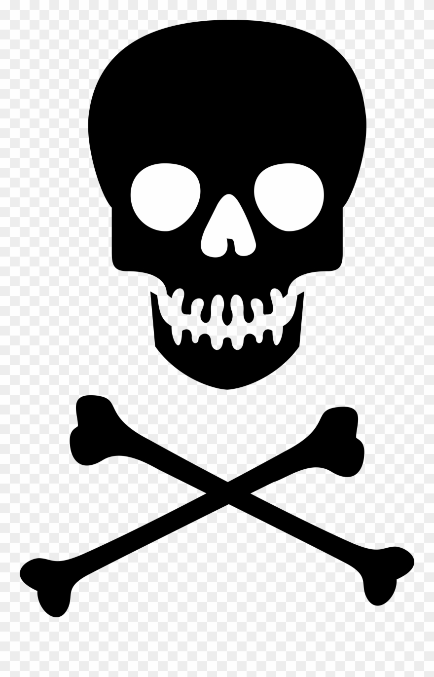 Skull and Crossbones Logo No Background